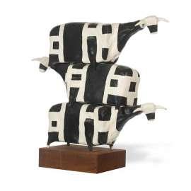 38. JOHN KELLY Three Cows Stacked2001 image