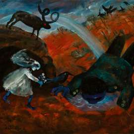 48. ARTHUR BOYD Bride and Bridegroom with Rainbow 1960 image