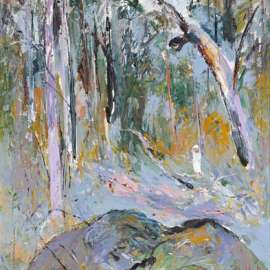 37. ARTHUR BOYD Figure in the Bush II c1974 image