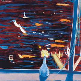 33. BRETT WHITELEY Westerly with Daisies (View of Lavender Bay)1974 image