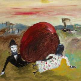 64. SIDNEY NOLAN Kate Kelly Pursued by Constable Fitzpatrick c1945 image