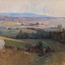 56. ARTHUR STREETON Study for Still Glides the Stream 1887-88 image