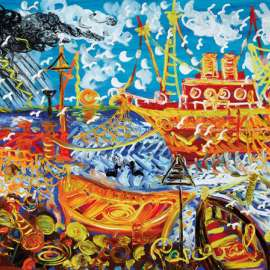 JOHN PERCEVAL Fishermen and their Catch, Williamstown image