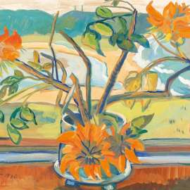 45. IRMA STERN Flowers and Beach Landscape 1936 image