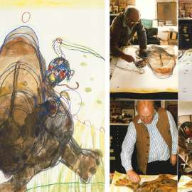 Lot 22. John Olsen Chasing the Rhino Blog by Tim Abdallah image
