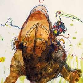 44. JOHN OLSEN Chasing the Rhino1992 image