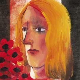 Lot 3. Charles Blackman Girl with Red Flowers Blog by Tim Abdallah image