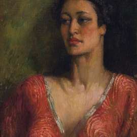 NORMAN LINSDAY Rita in Red image