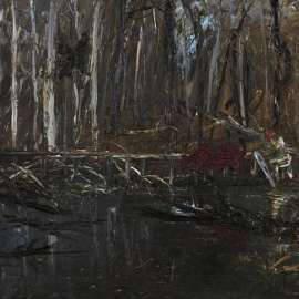 52. ARTHUR BOYD Figure Crossing a Bridge image