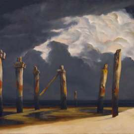 60. RICK AMOR Remnant Pier with a Stormy Sky 2005 image