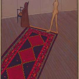 50. JOHN BRACK Nude in Profile (also known as Nude, Rug and Dressing Gown)1974 image