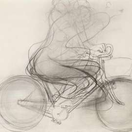 49. BRETT WHITELEY Girl Riding a Bicycle 1974 image