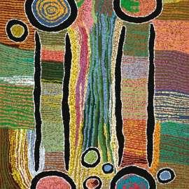 72. MAGGIE WATSON NAPANGARDI Kana, Digging Sticks1995 image