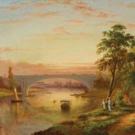 26. J.H. CARSE View of the Yarra with Prince's Bridge, Melbourne c1870 image