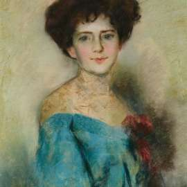60. TOM ROBERTS Portrait of a Lady (Possibly Lady Hopetoun) c1900 image