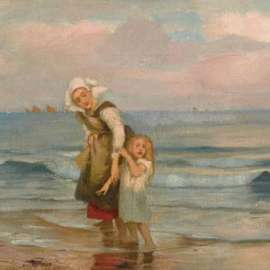 1. RUPERT BUNNY Mother and Child on the Beach c1894 image