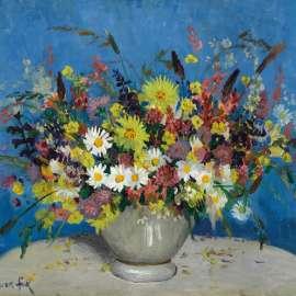 19. ETHEL CARRICK FOXBowl with Wildflowers c1920simage