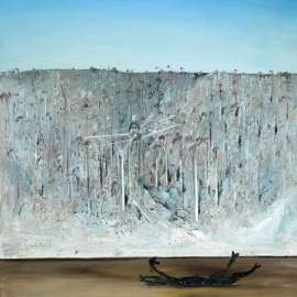 41. ARTHUR BOYD Aeroplane, Riverbank and Carcass 1979 image