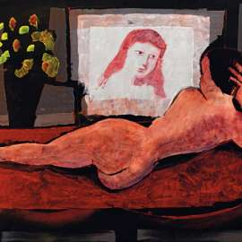49. CHARLES BLACKMAN Nude and her Reflectionimage