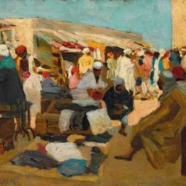 30. ETHEL CARRICK FOX Untitled (North African Marketplace) image