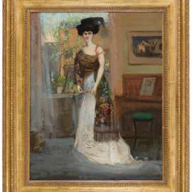26. CHARLES CONDER The Spanish Shawl (Portrait of Annie Cecil Lawson) c1905 image