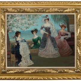 27. CHARLES CONDER The Verandah: Baroness A. de Meyer and Friends image