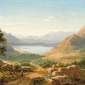 56. EUGENE VON GUÉRARD Italienische Landschaft (Italian Landscape)1849 image