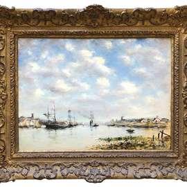 25. EUGÈNE BOUDIN The Meuse near Dordrecht image