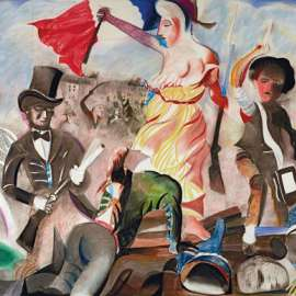33. CHARLES BLACKMAN Liberty Leading the People (after Delacroix 1830) 1993 image