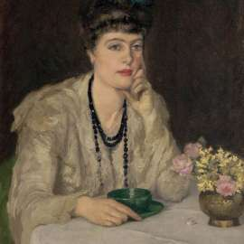 43. RUPERT BUNNY A Cup of Chocolate (also known as At the Table (Mrs Bunny)) 1911 image