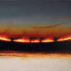 34. TIM STORRIER Evening Fire Line1989 image
