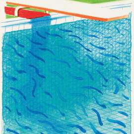 01. DAVID HOCKNEY Pool Made with Paper and Blue Ink for Book1980 image